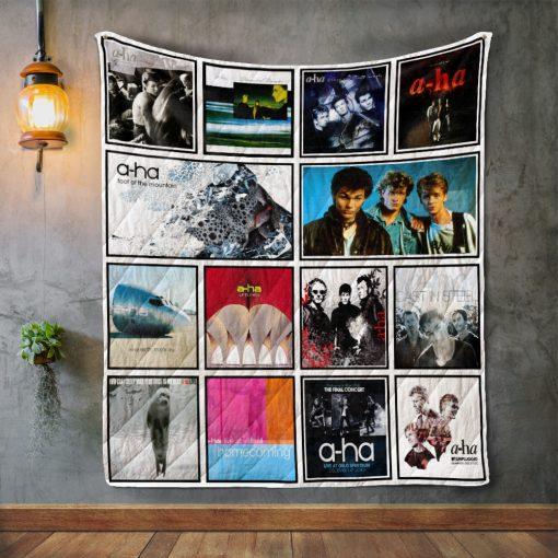 A-ha Album Covers Quilt Blanket