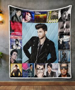 Adam Lambert Album Covers Quilt Blanket