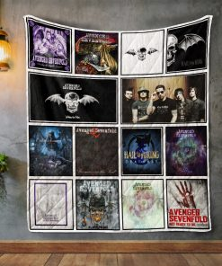 Avenged Sevenfold Album Covers Quilt Blanket