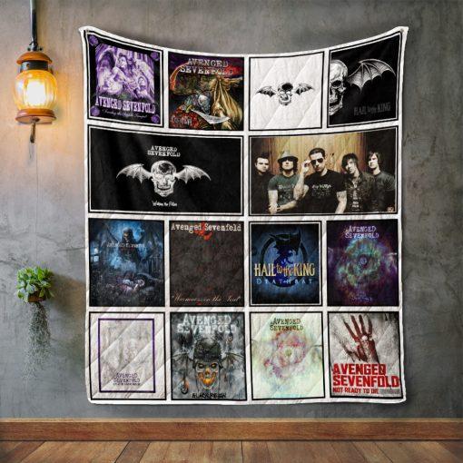 Avenged Sevenfold Album Covers Quilt Blanket