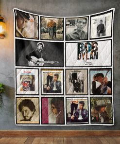 Bob Dylan Album Covers Quilt Blanket