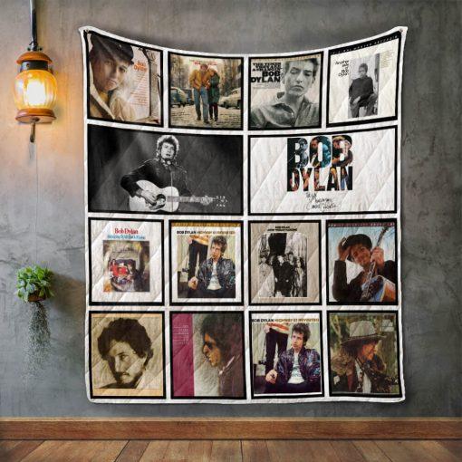 Bob Dylan Album Covers Quilt Blanket