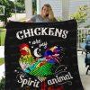 Chicken Spirit Quilt Blanket 01