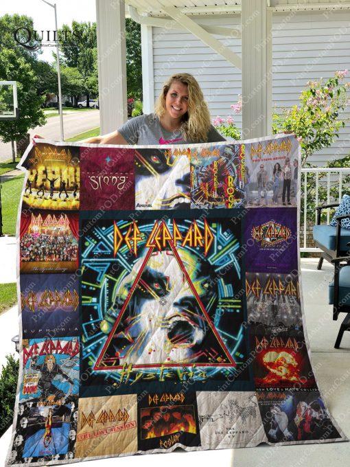 Def Leppard Albums Quilt Blanket For Fans Ver 17