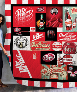Dr Pepper Quilt Blanket