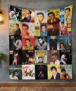 Elvis Presley Album Covers Quilt Blanket