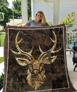 Hunting Deer Quilt Blanket 01