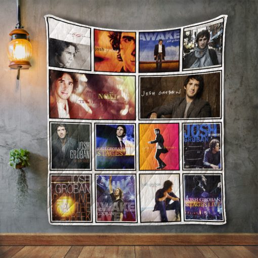 Josh Groban Album Covers Quilt Blanket