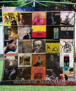 Miles Davis Albums Quilt Blanket