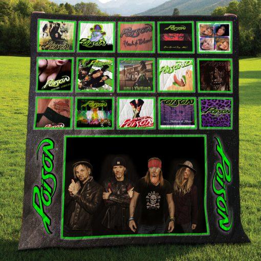 Poison Albums Quilt Blanket New