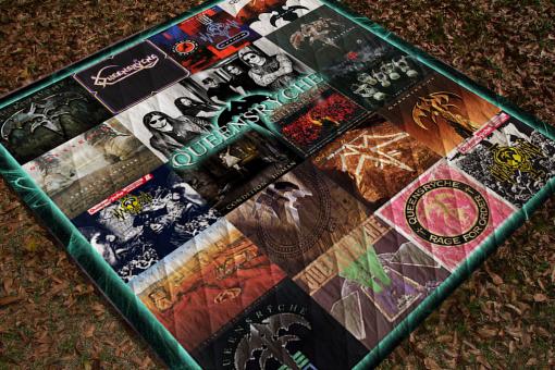 Queensrÿche Albums Quilt Blanket