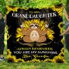 To My Granddaughter Always Remember You Are My Sunshine. Love, Grandpa – Sloth Quilt