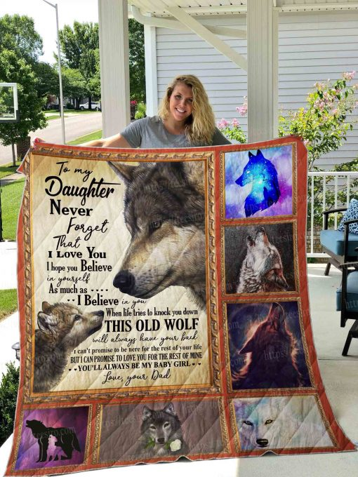 Wolf- Daughter Quilt Blanket 01